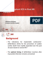 When to Implant ICD in Post MI Patient Final