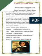 Mercedes de Jesús Molina Nació El 24 de Septiembre de 1828 en El Cantón Baba