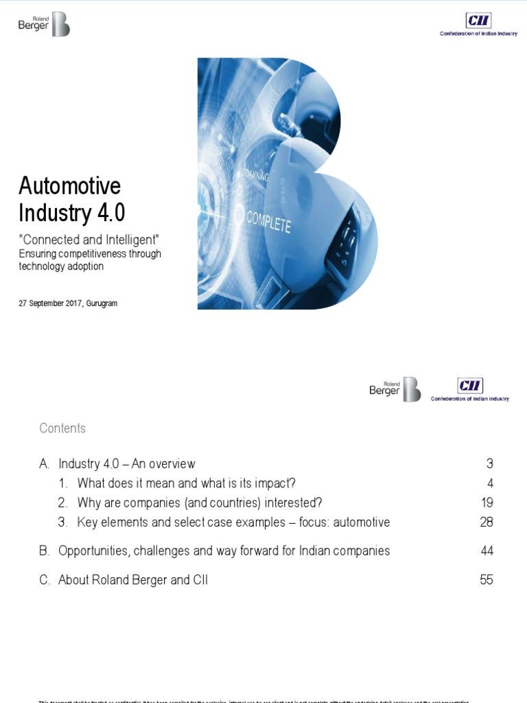 20170927 CII Automotive 4 0 Summit v5 | Automation | Product Lifecycle