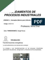 Unidad 1. Fundamentos de Procesos Industriales