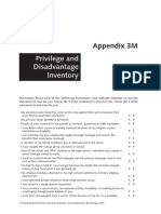 privilege and disadvantage inventory