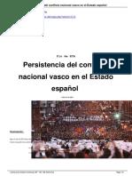 Persistencia Del Conflicto Nacional Vasco en El Estado EspañOl