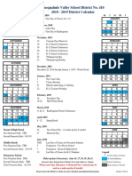 2018-2019 district calendar