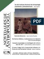 Novedades de Antropologia 84