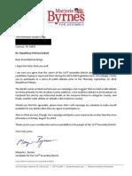 Marjorie Byrnes letter to Joe Errigo