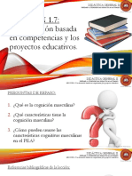 Lección 1.7 La Formación Basada en Competencias y Los Proyectos Educativos