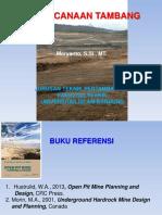 BAHAN AJAR PERENCANAAN TAMBANG_2003.ppt
