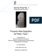 Proyecto Atlas Epigrafico de Peten Fase 1 Capitulo I y II