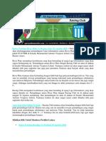 Bursa Taruhan River Plate vs Racing Club 30 Agustus 2018