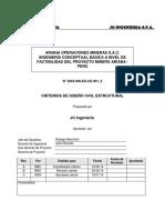 Criterio de Diseño para ingeniería de una planta beneficio minera
