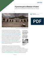 El Gobierno inicia el proceso para exhumar a Franco | España | EL PAÍS