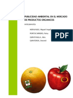 Publicidad Ambiental en el mercado de productos organicos