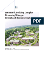 SUNY New Paltz Report on Renaming Buildings