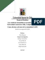 Las conductas homofóbicas normalizadas en la Universidad Austral de Chile, Campus Isla Teja