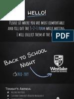 back to school night 2018-2019- weston