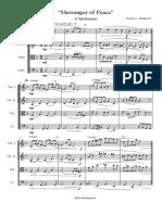 Messenger of Peace Strings Quartet Binder