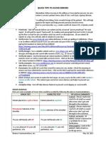 Avoiding_Errors - Quick Tips for Medical Language Editors