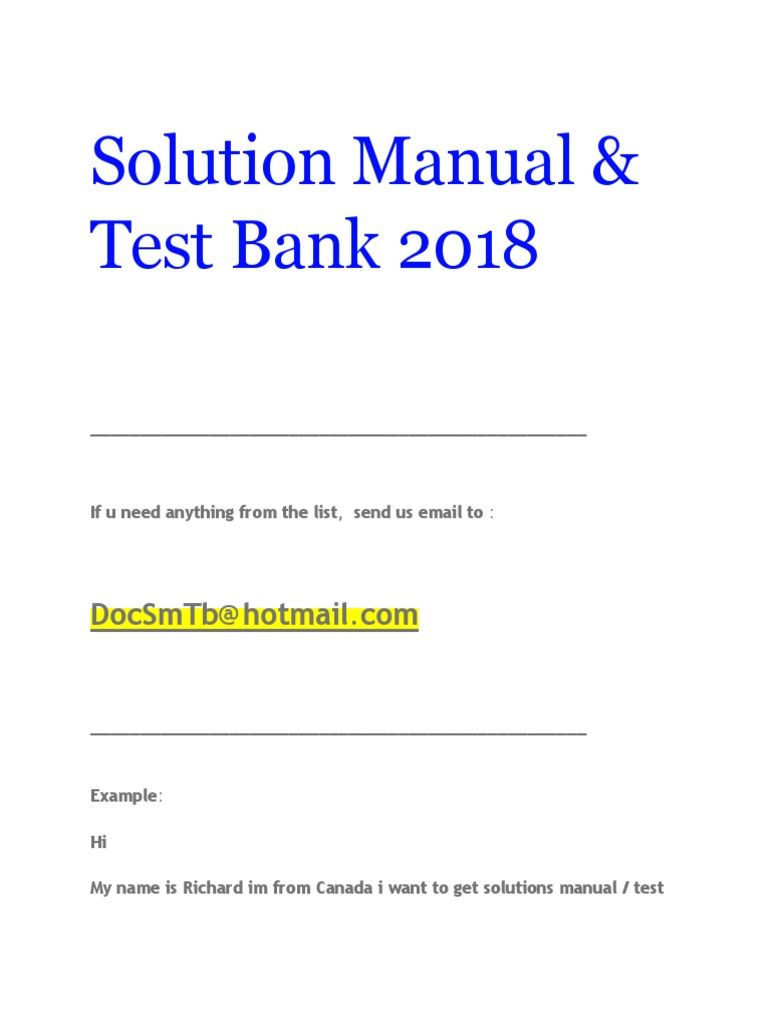 Solution Manual Test Bank 2018 Html Business