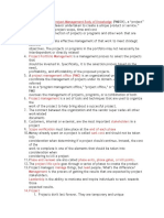 PMP Cheat Sheet