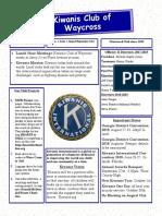 Kiwanis Club of Waycross,  August-September, 2018