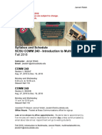 Syllabus COMM 240 Introduction to Multimedia