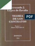 Lopez de Zavalia Fernando Teoria de Los Contratos Tomo IV