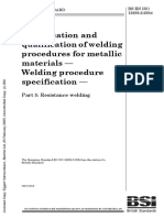 ISO 15609-5 - Specification and Qualification of Welding Procedures for Metallic Materials — Welding Procedure Specification — Part 5 Resistance Welding