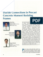 Ductile frame connections