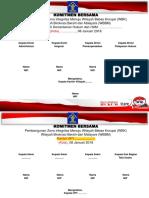 Naskah Penandatanganan Komitmen Bersama WBK Dan WBBM Tingkat Wilayah