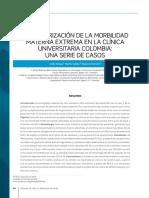 Caracterizacion de La Morbilidad Materna Extrema en La Clinica Universitaria Colombia Una Serie de Casos