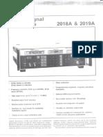 HP 2018A, 2019A Datasheet