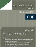 Lab 2 (Methods, Classes)