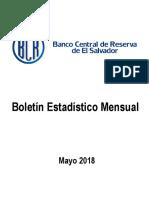 Boletín Estadístico Mensual Mayo 2018