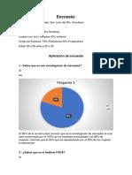 Aplicación de Encuesta y Análisis de Resultados