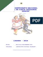 Bases Nacional Senior 2019