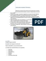 Especificaciones Técnicas Tractor
