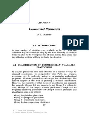 Pvc Technology Chapter 6 Polymers Polyvinyl Chloride