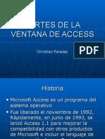 Partes de La Ventana de Access 2