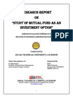 Study of Mutual Fund as An