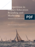 Competition in Higher Education Branding and Marketing National and Global Perspectives