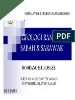 Geologi Rantau Negeri Sabah & Sarawak (Kuliah 1-Geologi Malaysia Dan Geologi Rantau (SG20403)) [Compatib