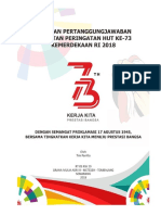 LPJ HUT Ke 73 Kemerdekaan RI 2018 Keluarga Besar Warga RT 05 RW 29 Perumahan Graha Mulia Asri III Kelurahan Meteseh Kecamatan Tembalang Kota Semarang