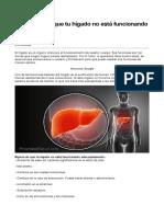 11 señales de que tu hígado no está funcionando bien