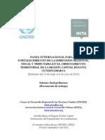 Reporte Panel Region Capital UNCRD-InTA
