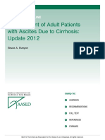 AASLD Management of Adult Patients With Ascites Due to Cirrhosis 2012