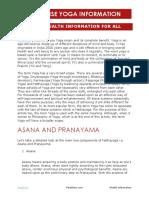 Healthise Yoga Information Shreable to the World