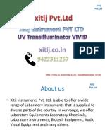UV Transilluminator VIVID xitij instrument pvt ltd