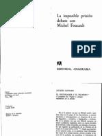 FOUCAULT, MICHEL Y OTROS - La imposible prisión. Debate con Michel Foucault (1980)