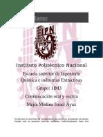 Comunicación Oral y Escrita IPN