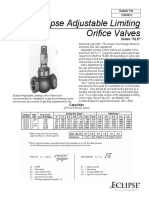 Eclips Orfice Valve